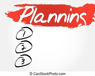 PLANNING blank list, fitness, sport, health concept