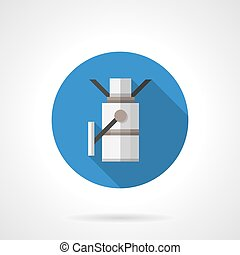 Metal turnstile round flat color vector icon - Pass...