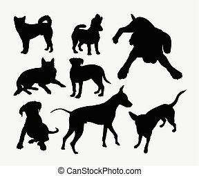 Dog pet animal silhouette 4