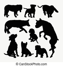 Dog pet animal silhouette 8