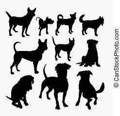 Dog pet animal silhouette 12