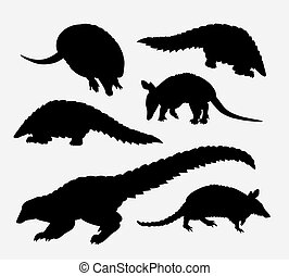anteater animal silhouette Good use for symbol, logo, web...