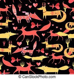 pattern of foxes - The beautiful graphic pattern of foxes...