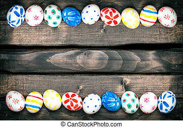 Easter eggs on old boards - Easter Egg Easter eggs on old...