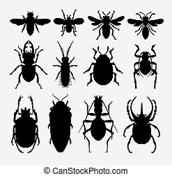 Insect bug animal silhouette 2
