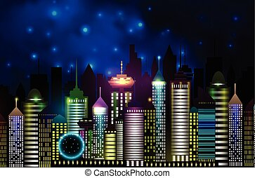 Vancouver Canada skyline silhouette vector illustration in...