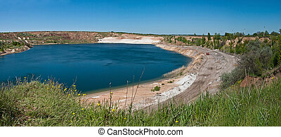 Beautiful Lake - Beautiful lake in sand quarry. Kharkov...