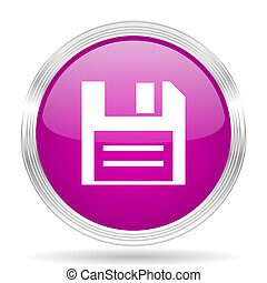 disk pink modern web design glossy circle icon