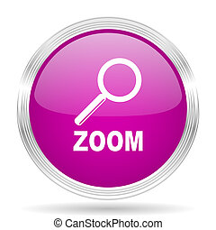 zoom pink modern web design glossy circle icon