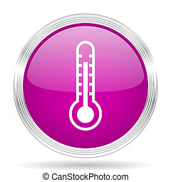 thermometer pink modern web design glossy circle icon