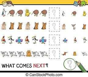 pattern educational activity - Cartoon Illustration of...