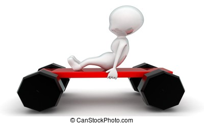 3d man sitting on toy car with no roof concept