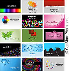 Business card designs - Large collection of various business...