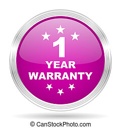 warranty guarantee 1 year pink modern web design glossy...