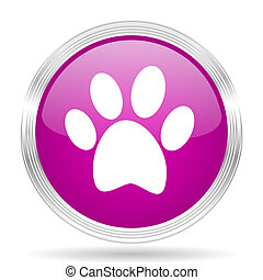 foot pink modern web design glossy circle icon