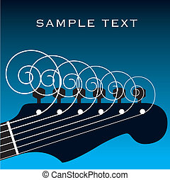 Guitar vector background with space for text