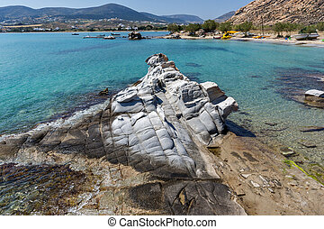 kolymbithres beach, Paros island - Blue Waters of...