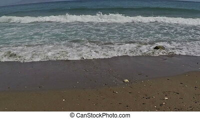 the waves arriving at shore - the waves arriving at the...