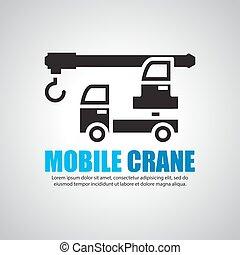 Mobile crane Symbol