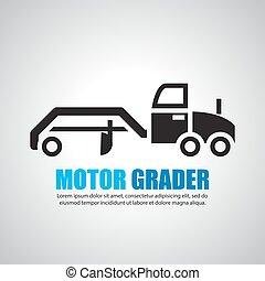 motor  grader,Symbol