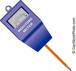 Outdoor Soil Moisture Sensor Meter Vector illustration