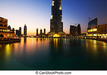 Burj Khalifa is the tallest building in the world reaching over 800 meters. Inaugurated in january 2010 is now a top destination for tourist and locals in Dubai