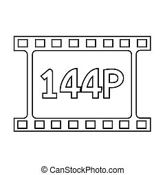 film strip icon Illustration design