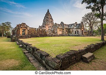 Phanom Rung historical park is Castle Rock old Architecture...