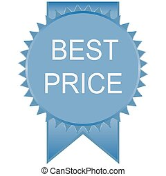 blue best price badge