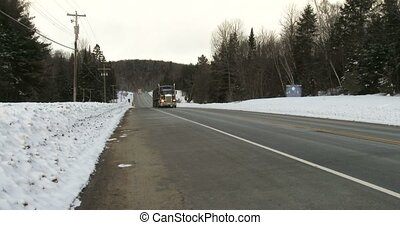 Truck driving on highway 60