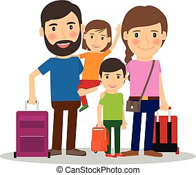 Family vacation with children - Family vacation. Family...