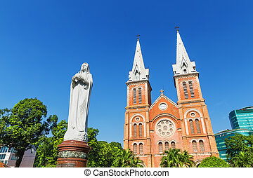Saigon Notre Dame Cathedral Basilica in Ho Chi Minh city,...