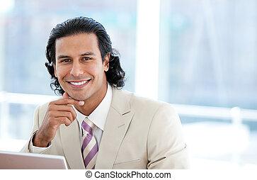 Portrait of a positive businessman