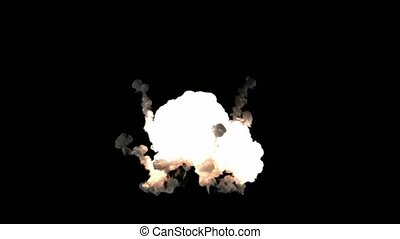 bomb explosion with alpha matted channel