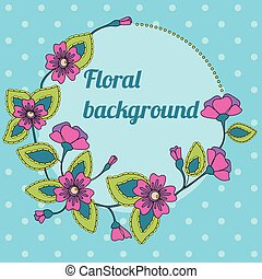 Background with round floral banner