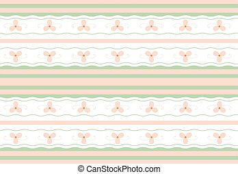 Gentle floral seamless geometric wallpaper pattern in a...