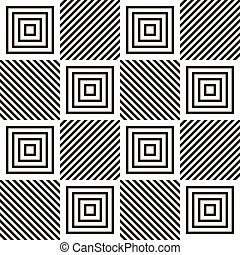 Abstract seamless geometric black and white pattern Volume...