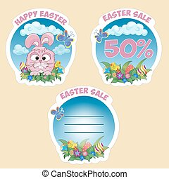 Price sticker with text Easter sale