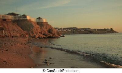 Beautiful egyptian beach on sunset.