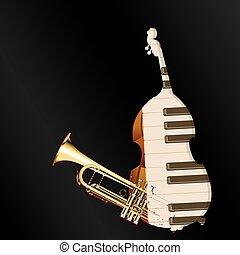 background music jazz instruments