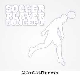 Soccer Football Player Silhouette Concept - A stylised...