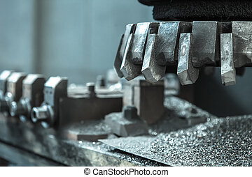 Machine tool closeup