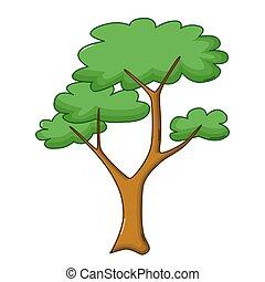 Savanna tree icon, cartoon style