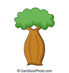 Bottle tree icon, cartoon style