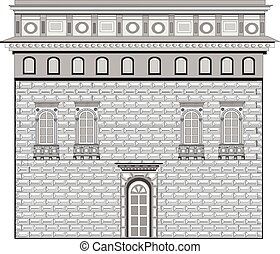 Renaissance style in architecture vector eps 10