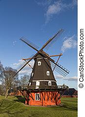 Windmill in Kastellet fortress, Copenhagen, Denmark -...