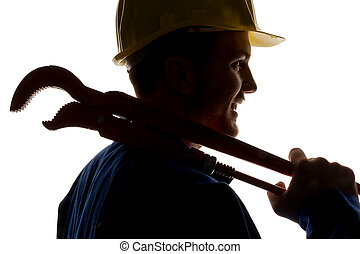 craftsman with tools - a worker in a business enterprise...