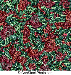 Colorful seamless abstract floral pattern. Endless...