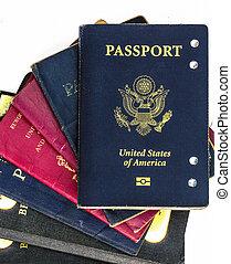 passaportes, antigas