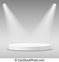 Illuminated round stage podium - Illuminated round stage...